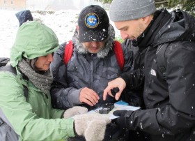 Orienteering on an Alpine Plateau