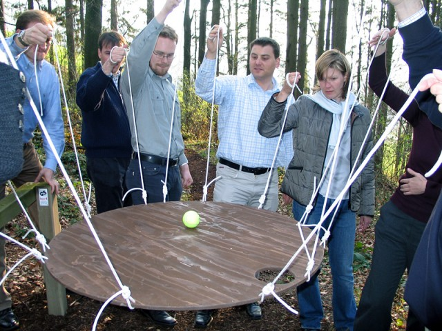 outdoor team building exercises for adults